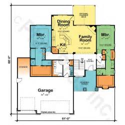 house plans 2 master suites single story house plans with two owner suites design basics