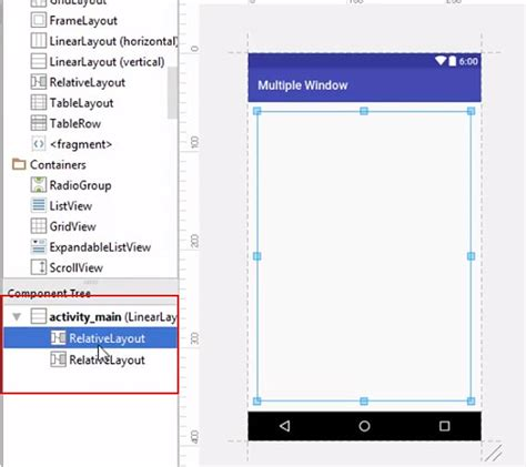 multiple linear layout in android split screen using multiple layout in android