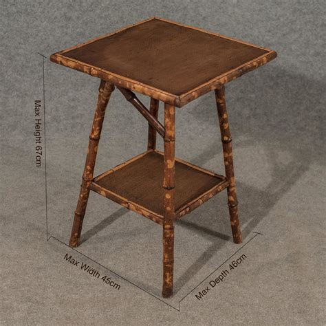 Antique Side Table Antique Side Table L Two Tier Bamboo 19thc Antiques Atlas