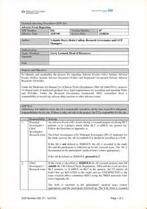 supply sop template sop images search
