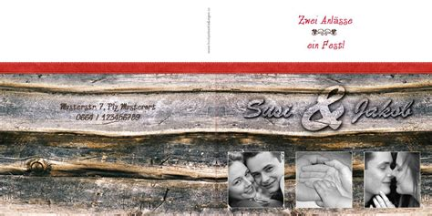 Hochzeitseinladung Holzoptik by Hochzeitseinladung Mit Foto Blickfang Holz