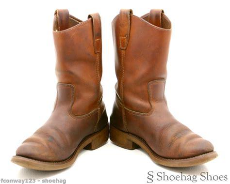 grande boots grande mens cowboy boots size 7 medium vtg brown