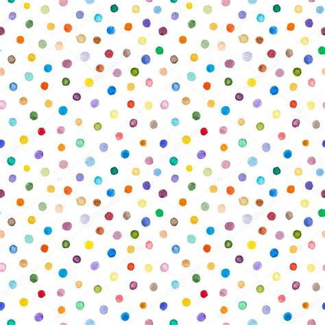 seamless pattern dots watercolor seamless pattern polka dots hand drawn