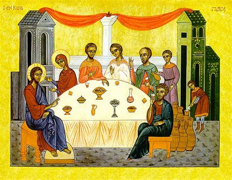 Wedding At Cana Icon by The Wedding At Cana Icon Reproduction