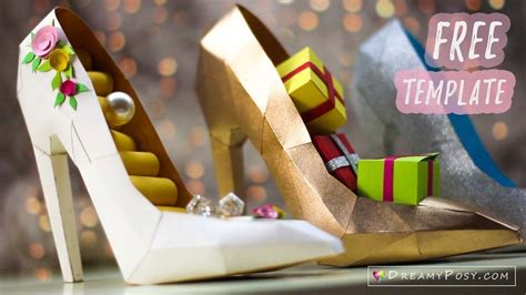 how to make paper shoes templates free template how to make paper 3d high heel shoe