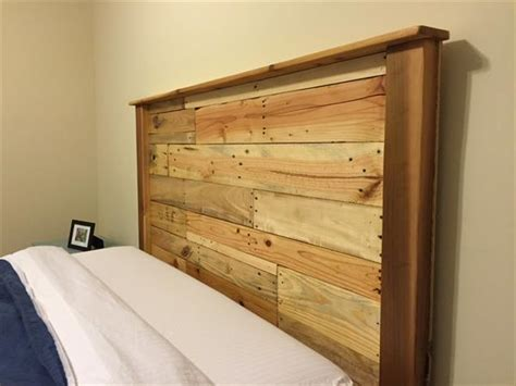 Wood Pallet Headboard Upcycled Wood Pallet Headboard Pallet Furniture Plans