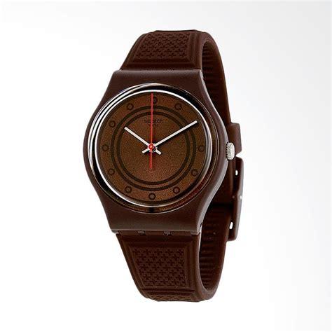 Jam Tangan Swatch Coklat jual swatch schoggi jam tangan pria coklat gc114