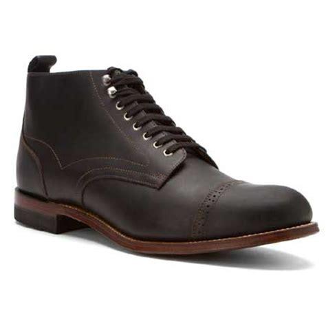 brogan shoes style leather brogan boot black