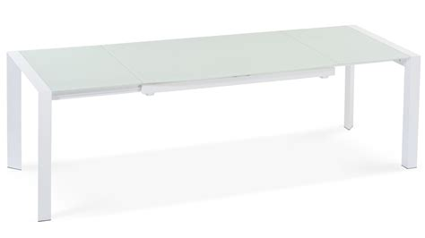 White Glass Extending Dining Table Alton Extending Modern Dining Table With White Glass Top Zuri Furniture