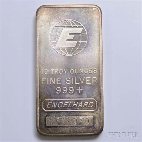10 Troy Ounce Silver Bar Engelhard - engelhard ten troy ounce silver bar sale number 2982t