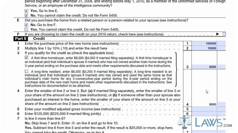 learn how to fill the form 5405 time homebuyer