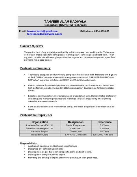 sap cv sample sap jobs resume writing a curriculum vitae cv