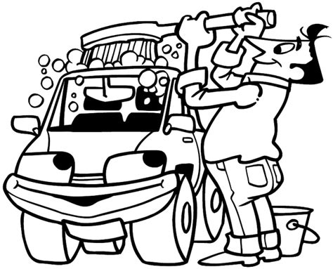 free car wash printable coloring pages