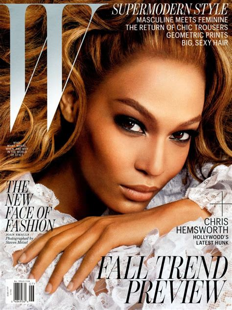 kaia gerber tfs joan smalls strikes it big on the july 2012 cover of w
