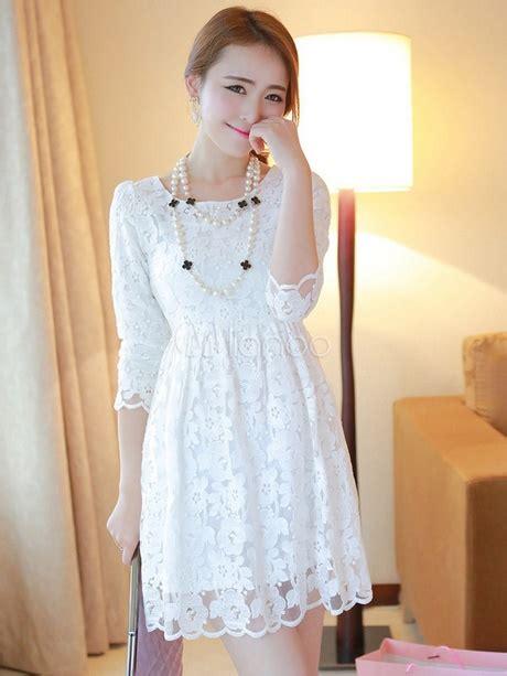 vestido de encaje blanco corto vestido corto encaje blanco