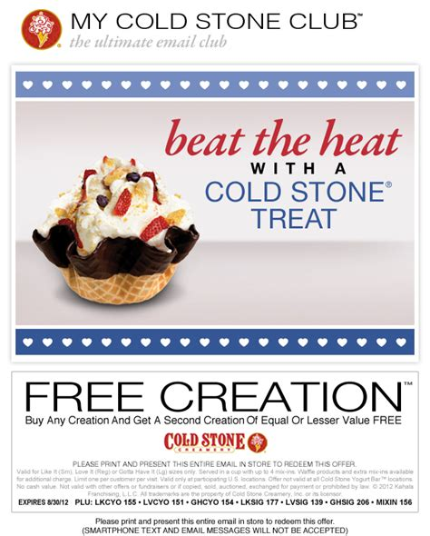 Cold Creamery Coupons Printable 2014