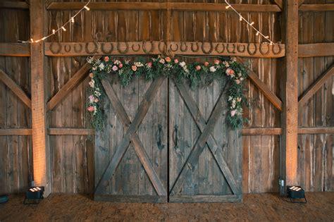 Rustic Barn Door Ceremony Backdrop Photography Barn Doors