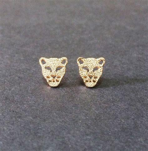 tiger stud earrings tiger earrings leopard earrings