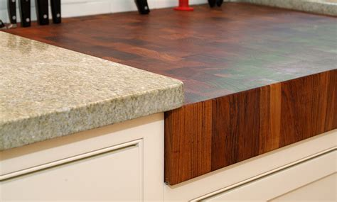 teak butcherblock countertop by grothouse traditional