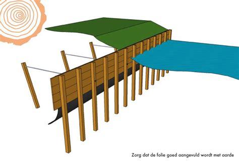 zelf l maken hout zelf afboording bouwen keerwand plaatsen tips