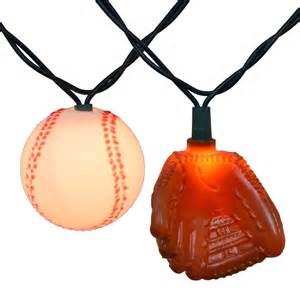 sports string lights baseball and glove string lights