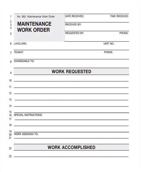work order template repair work order templates images