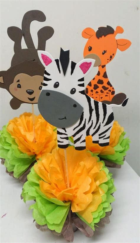 jungle themed centerpieces for baby shower best 25 safari centerpieces ideas on jungle