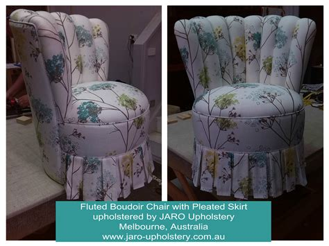Bedroom Chair With Skirt Boudoir Bedroom Chair With Pleated Skirt Jaro Upholstery