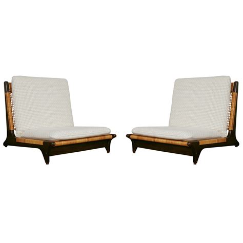 Low Seating Chairs - pair of hans low chairs at 1stdibs