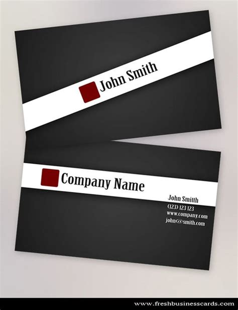 Photoshop File J Card Template by Clean Black Stylish Business Card Template Available For