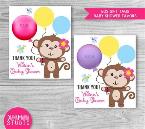 eos template for baby shower favors free baby shower gift tags eos favors monkey girl baby shower