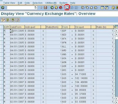 Exchange Rate Table by Sap E Mory Sap Enter Currency Exchange Rates Table