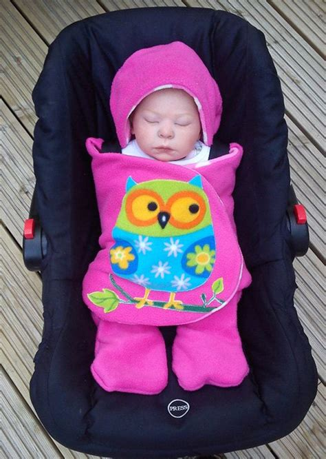 infant car seat swaddle blanket owl car seat cosy wrap swaddle blanket pink by