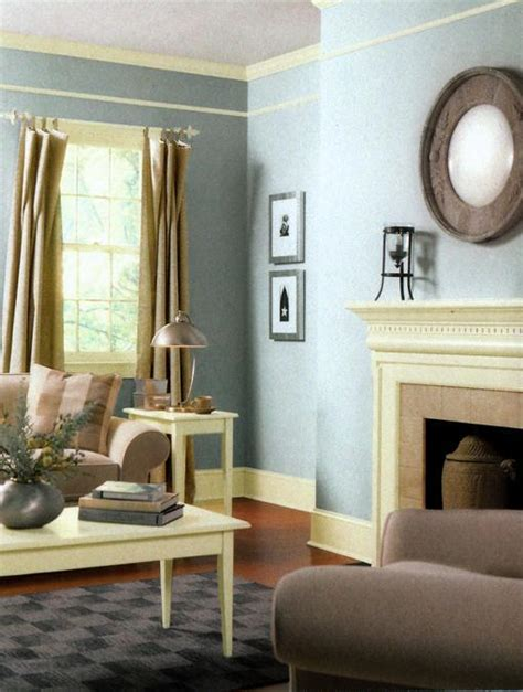 Blue Walls Living Room by Modern Living Room And Dining Room Decorating Color