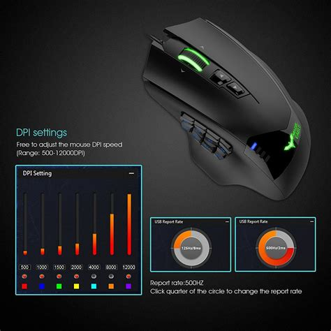 Havit Ms 735 12 000dpi Mouse mmo gaming mouse havit hv ms735 12000 dpi 19