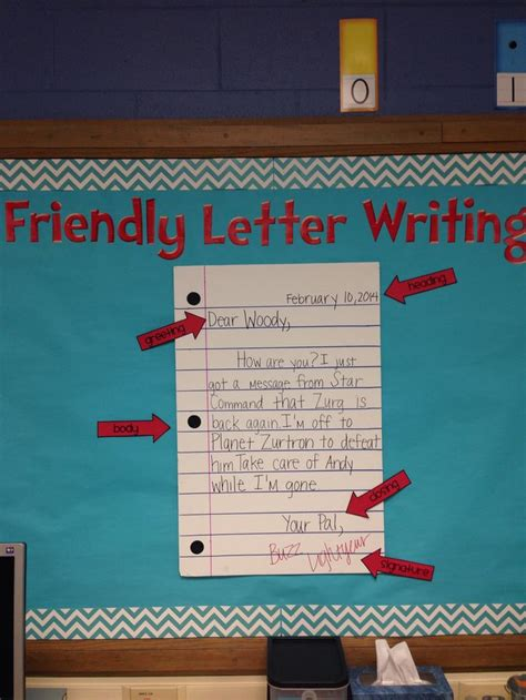 friendly letter writing bulletin board the kids loved