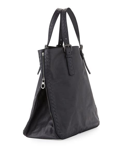 Sidebag Botegga Venetta 2296 bottega veneta s side zip lightweight woven tote bag in black lyst