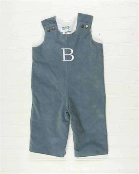 Baby Overall Grey grey baby clothes monogrammed corduroy overalls in 5 colors
