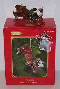 bucking bull ornaments 034 hammer 034 pbr bullriding rodeo bull collectible tree ornament new ebay