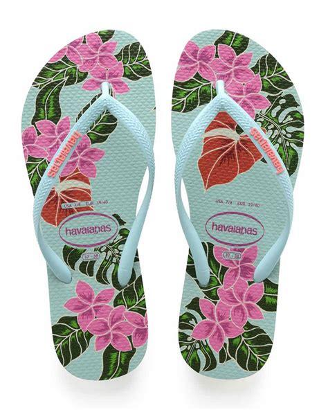 Sale Slim Pink Selop Sandal Fashion havaianas flip flops quot slim floral sandal quot green pink