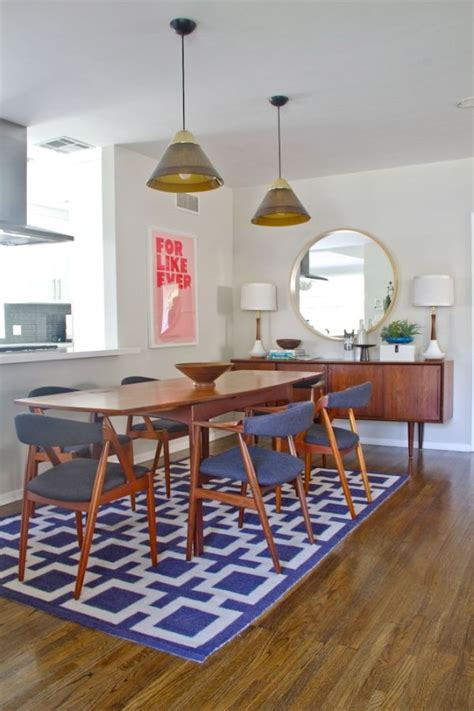 carpet dining room table geometric area rugs make a statement without saying a word