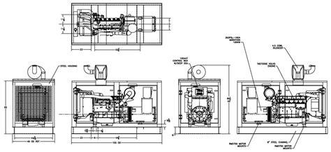 drawing generator volvo diesel generator 125 kw