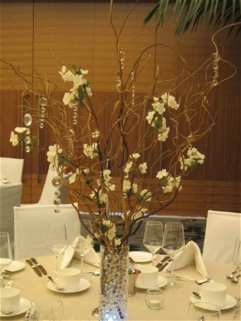 decorating decorative tree branches with natural curly willow naturally beautiful wedding decor fairmont pacific rim