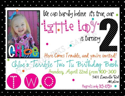 Terrible Twos Announces Second For Kiddies by Terrible Two Tu Birthday Terrible 2 Birthday