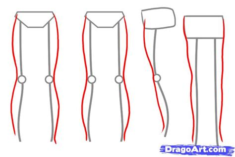 Drawing Legs by How To Draw Legs Step By Step Anatomy Free