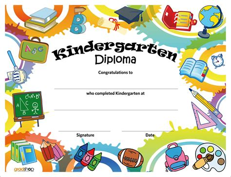 Kindergarten Graduation Certificate Template 2 Professional And High Quality Templates Preschool Graduation Program Template 2