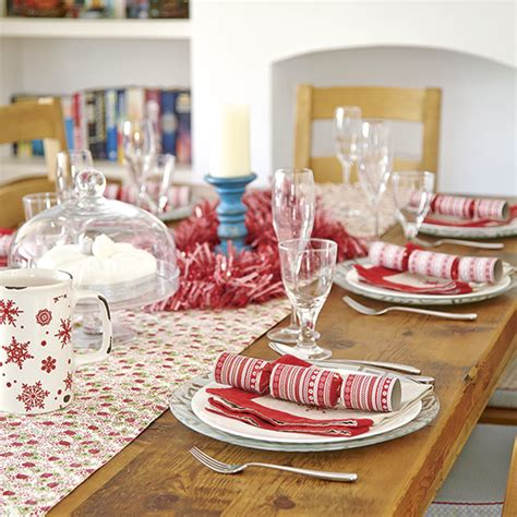 red and white christmas table budget christmas table ideas ideal home