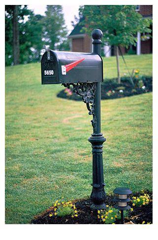 Mailbox Solar Light Mailbox Landscaping Landscape Ideas For The Parents
