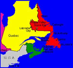 newfoundland political map