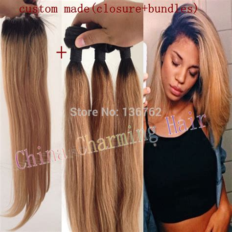 blonde ombre hair weave ombre hair extensions 1b 27 honey blonde ombre dark roots